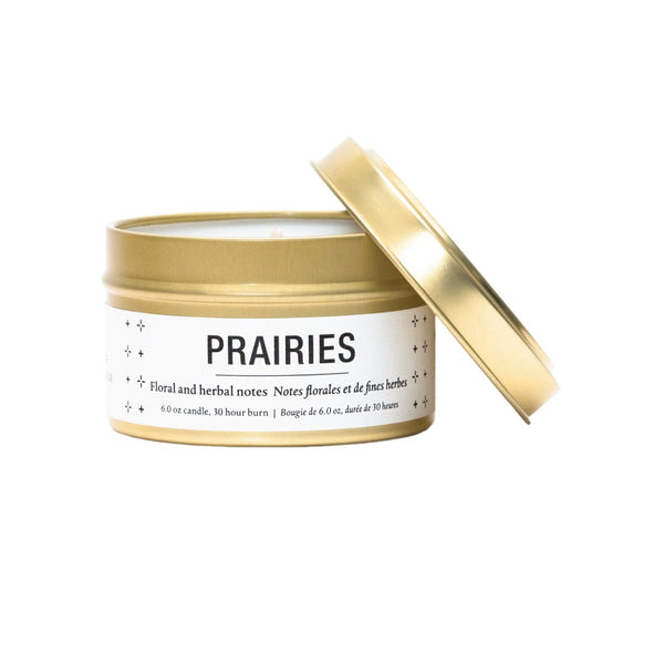 Prairies Tin Candle