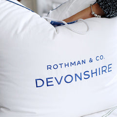 Devonshire Canadian Hutterite White Goose Down Duvet <br> Light Weight - Rothman & Co.