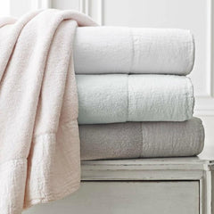 Gramercy Linen-Applique Cotton Towel - Rothman & Co.