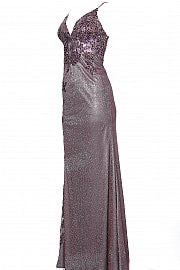 Jovani 2205 Embroidered Form Fitting Prom Dress