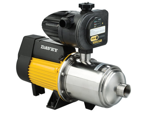 Davey pressure pumps Davey HM60-08T 0.72kW Pressure Pump Fitted With Torrium2 Automatic Controller