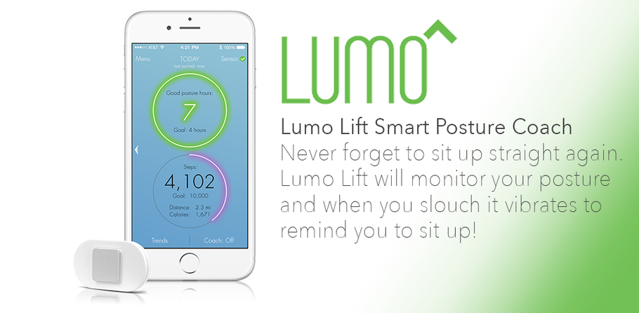 Forgetting to sit up straight? Introducing Lumo Lift!