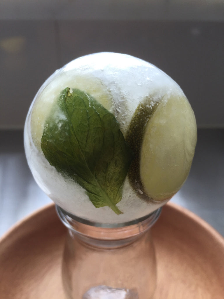 QUOlixir Lime & Mint Ice Ball