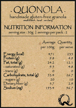 QUOhk QUOnola 100g Nutrition Fact