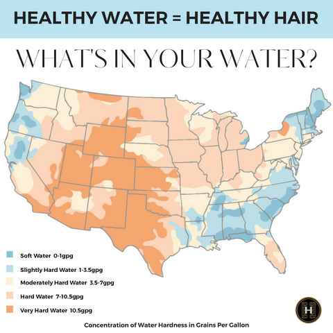 hair loss-thin hair-hard water-healthy hair