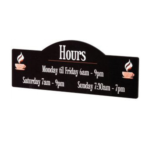 Display Shape Glossy Hardboard Sign 15 1/2 x 5.7