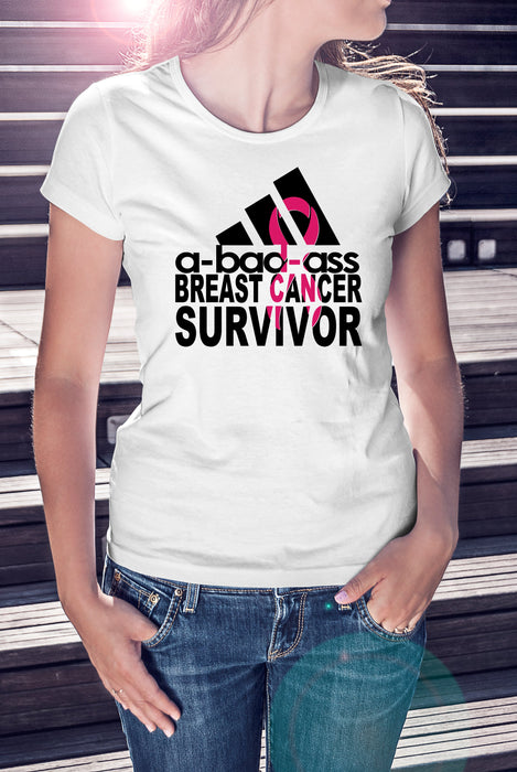 A-Bad-Ass breast Cancer Survivor Shirt