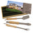 3-Piece BBQ Set in Wooden Pine Box withLid