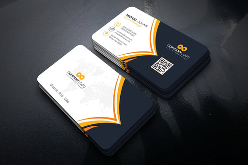 DFY BC 1 - Solutions Business Card Design Gold