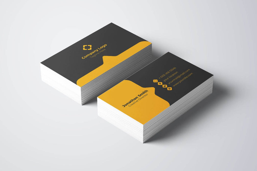DFY BC 21 Touching Business Card Design