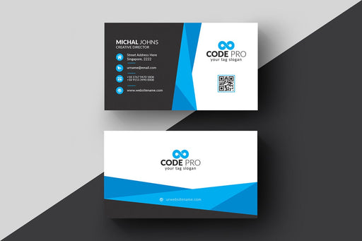 DFY BC 2 - Code Business Card Design Blue