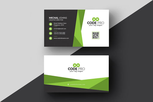 DFY BC 2 - Code Business Card Design Green