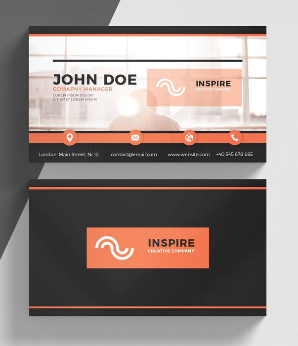 DFY BC 35 Boundless Business Card Design