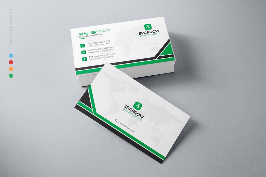 DFY BC 47 - Stimulating Business Card Design Green