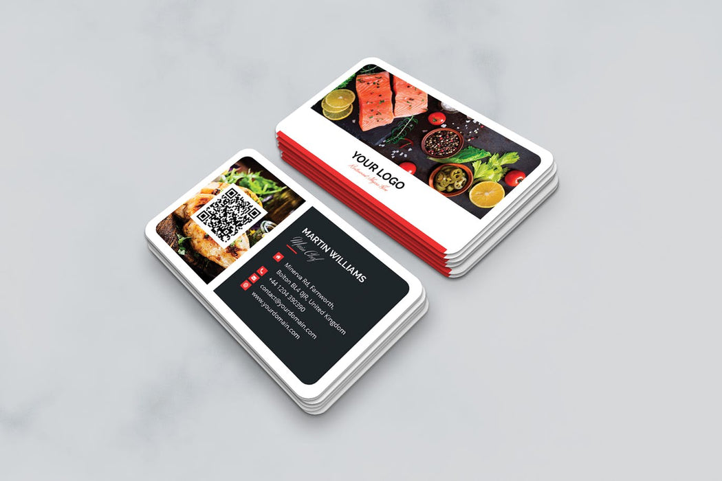 DFY BC 4 - Restaurant Business Card Design