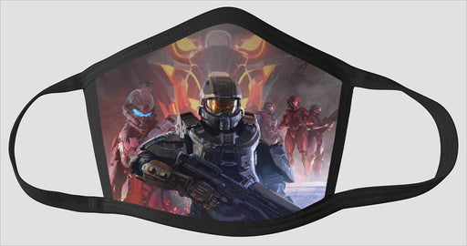 Halo Heros Poster - Face Mask