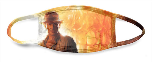 Indiana Jones Cyrstal Skull Poster - All Over Face Mask