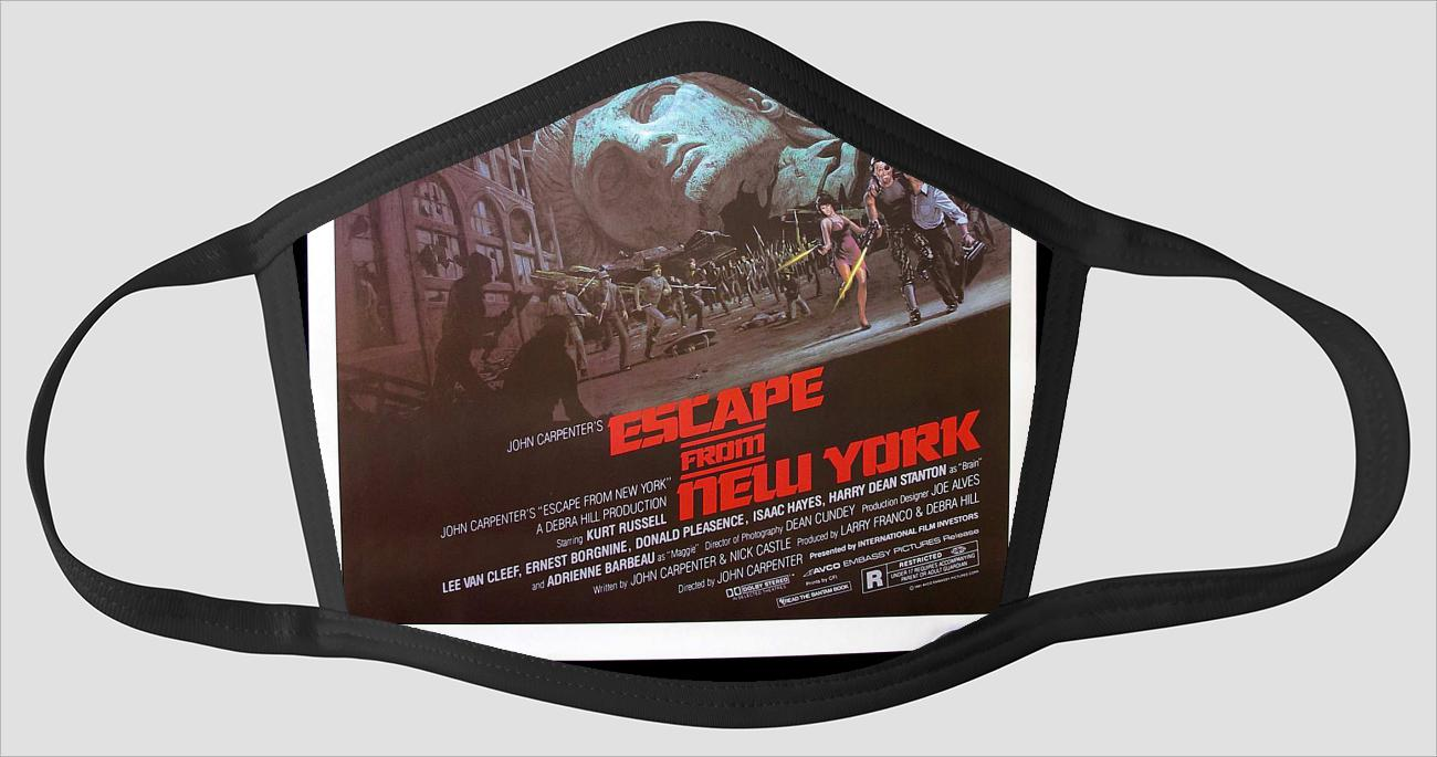 Movie Poster 30   Escape From New York - Face Mask
