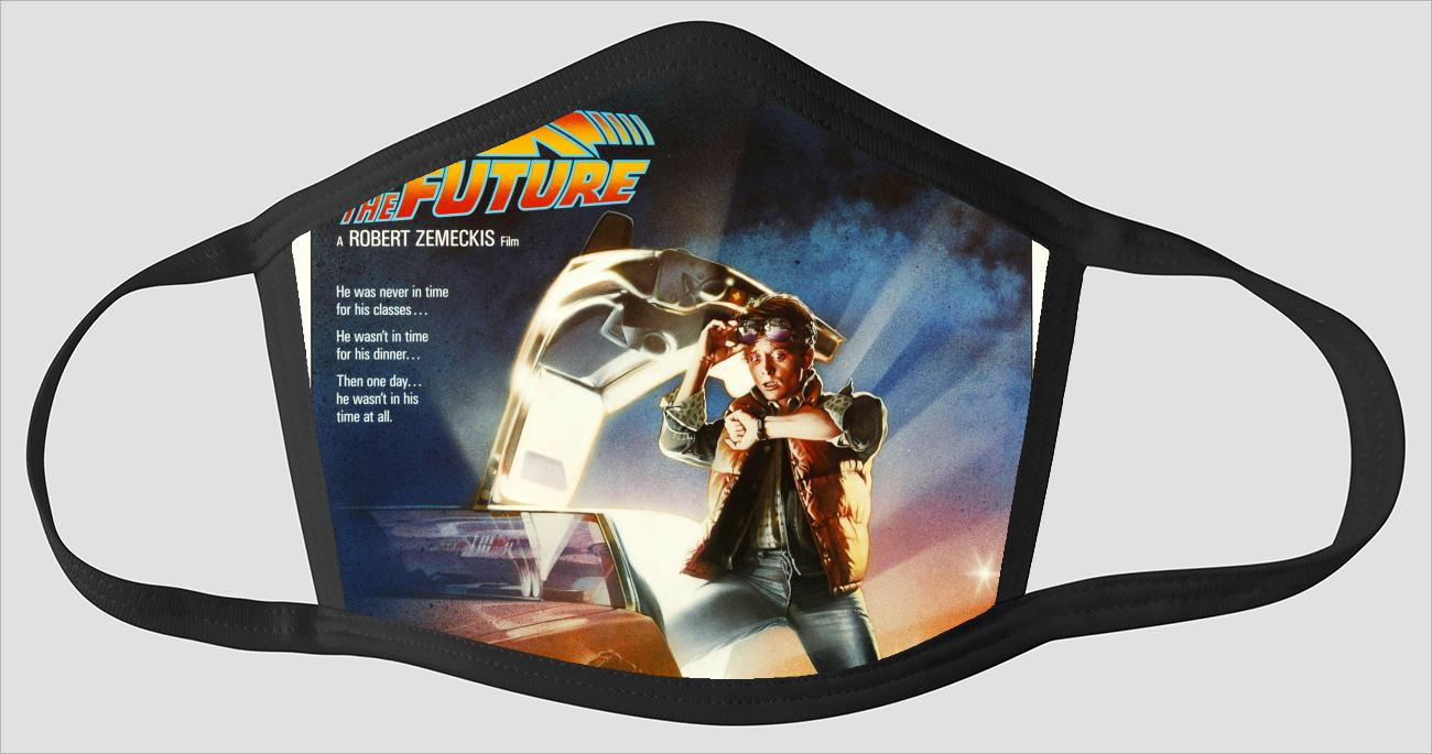 Movie Poster 4   Back To The Future - Face Mask