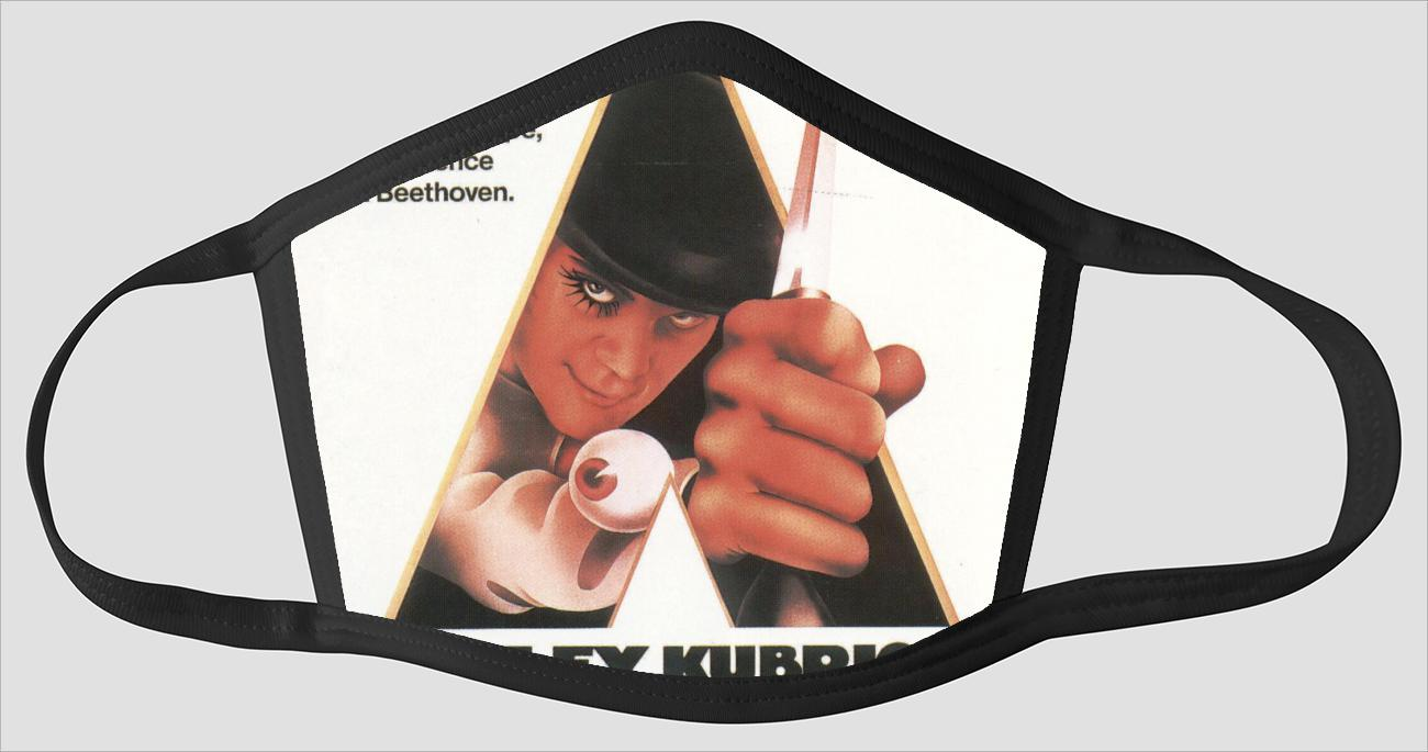 Movie Poster 53   Clockwork Orange - Face Mask