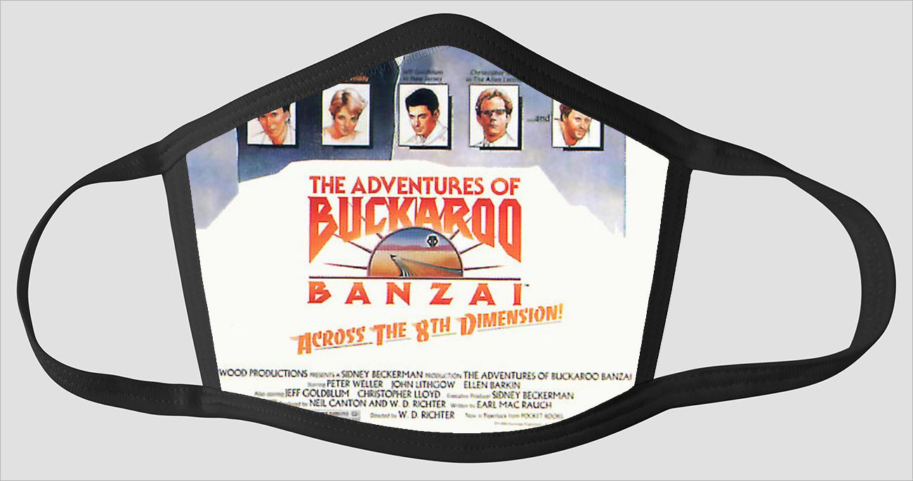 Movie Poster 70   The Adventures of Buckaroo Banzai - Face Mask