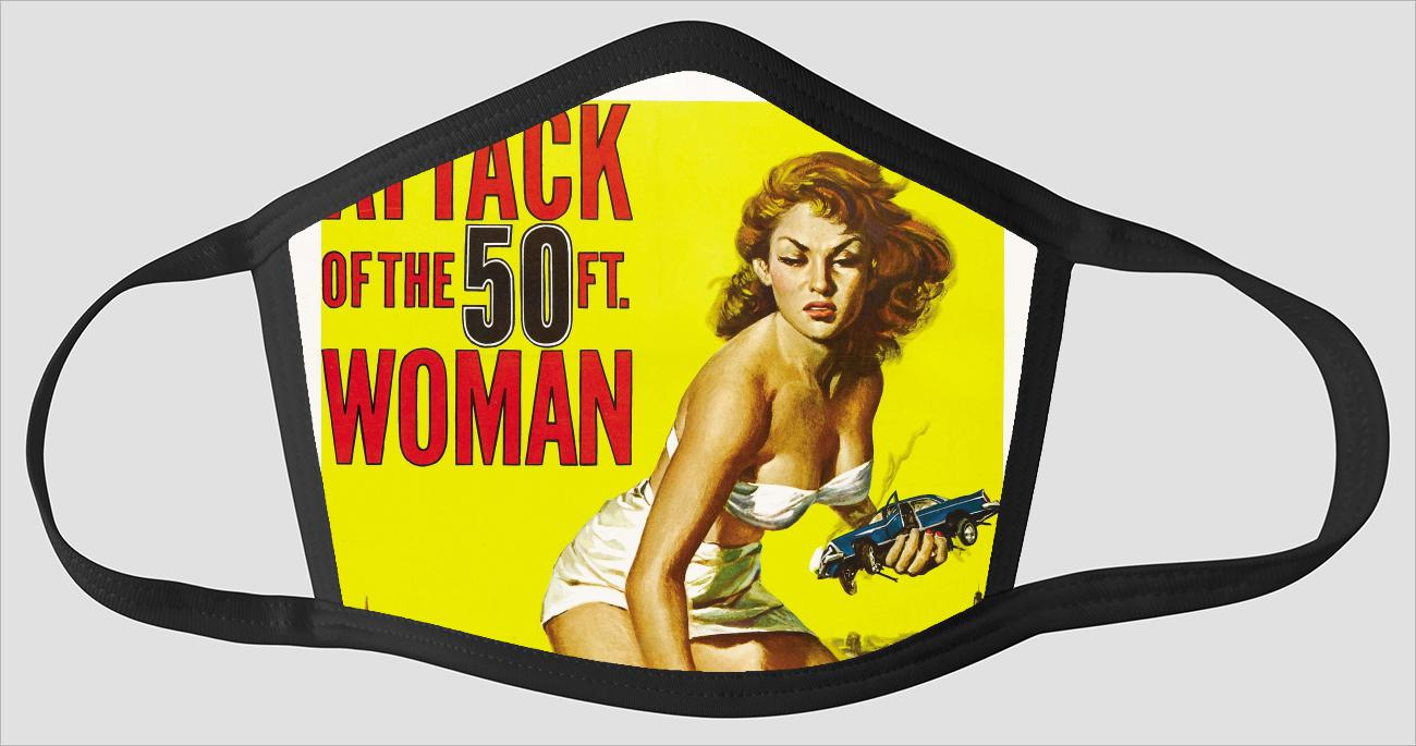 Movie Poster 83   Attack Of The 50ft Woman - Face Mask