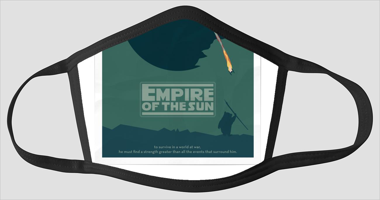 Movie Poster 94   Empire Of The Sun   Star Wars - Face Mask