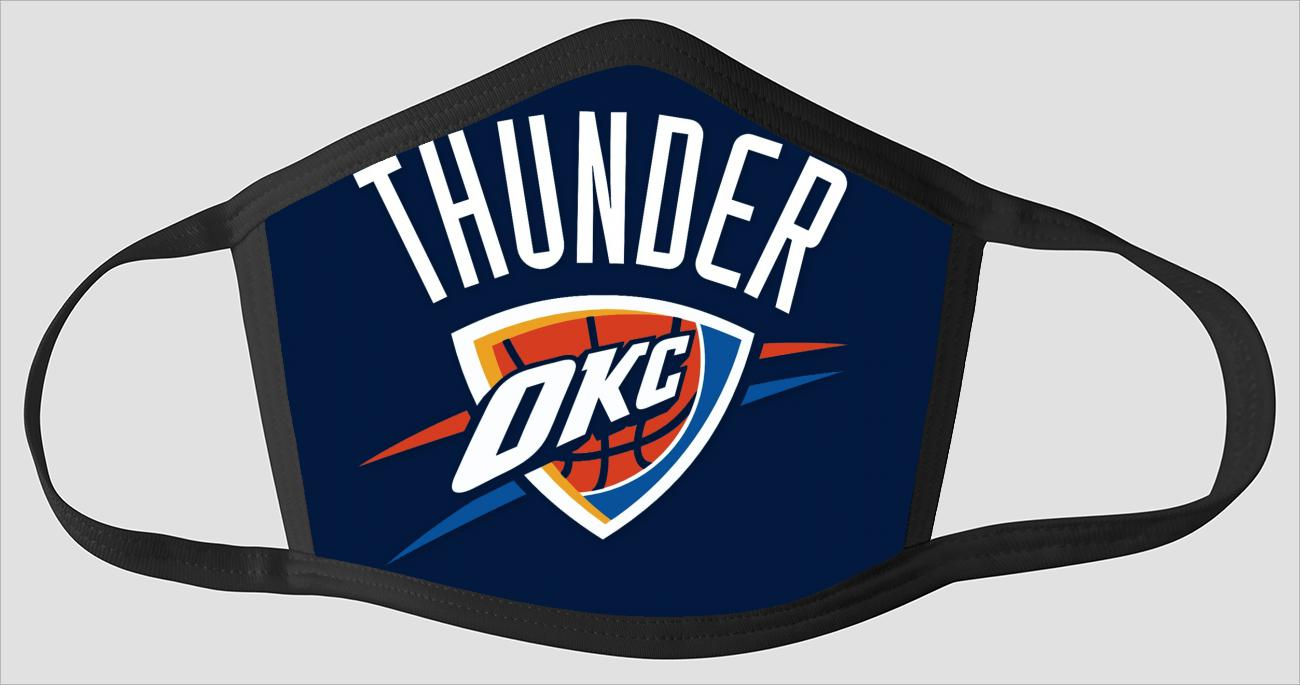 Oklahoma City Thunder OKC The Run v1 - Face Mask