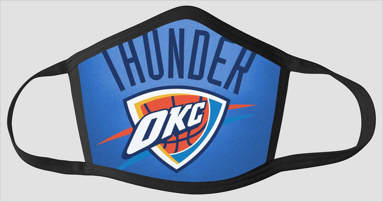Oklahoma City Thunder OKC The Run v12 - Face Mask