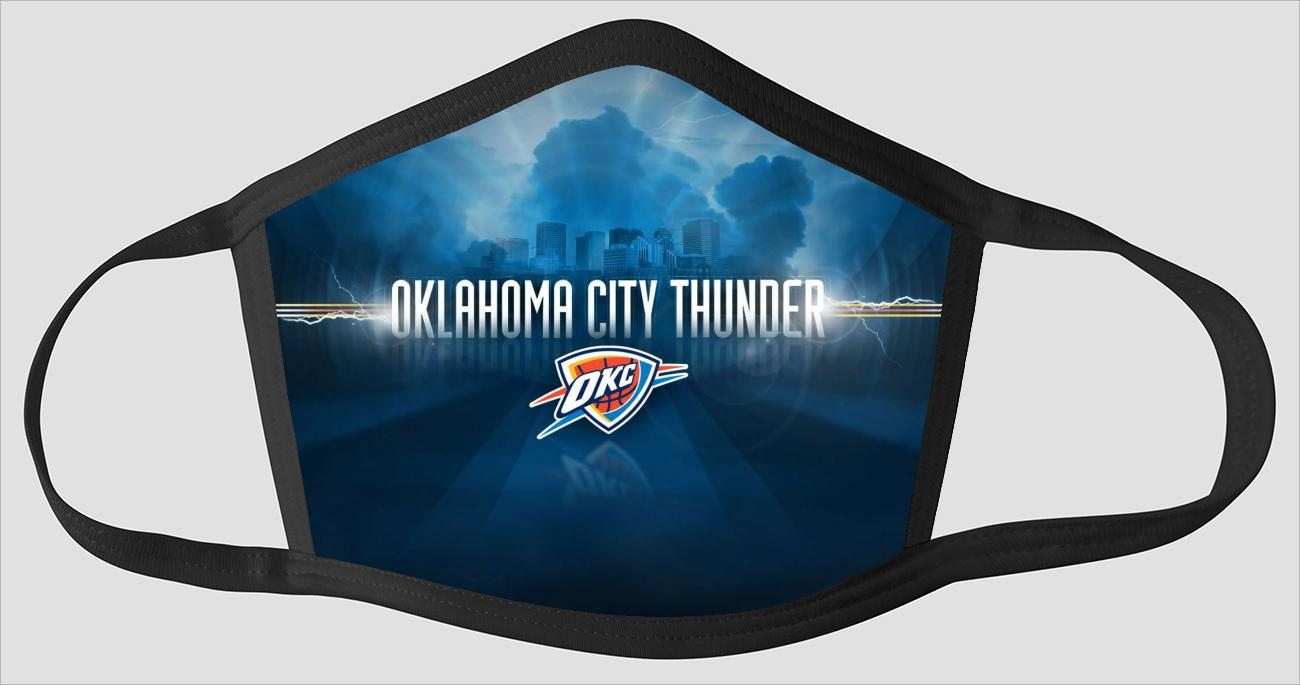 Oklahoma City Thunder OKC The Run v8 - Face Mask