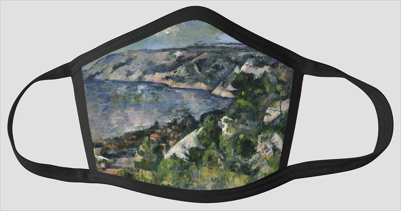 Paul Cezanne    French    1839 1906    Bay of l'Estaque - Face Mask