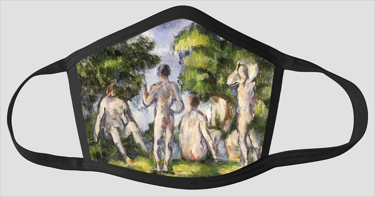Paul Cezanne    French    1839 1906    Group of Bathers - Face Mask