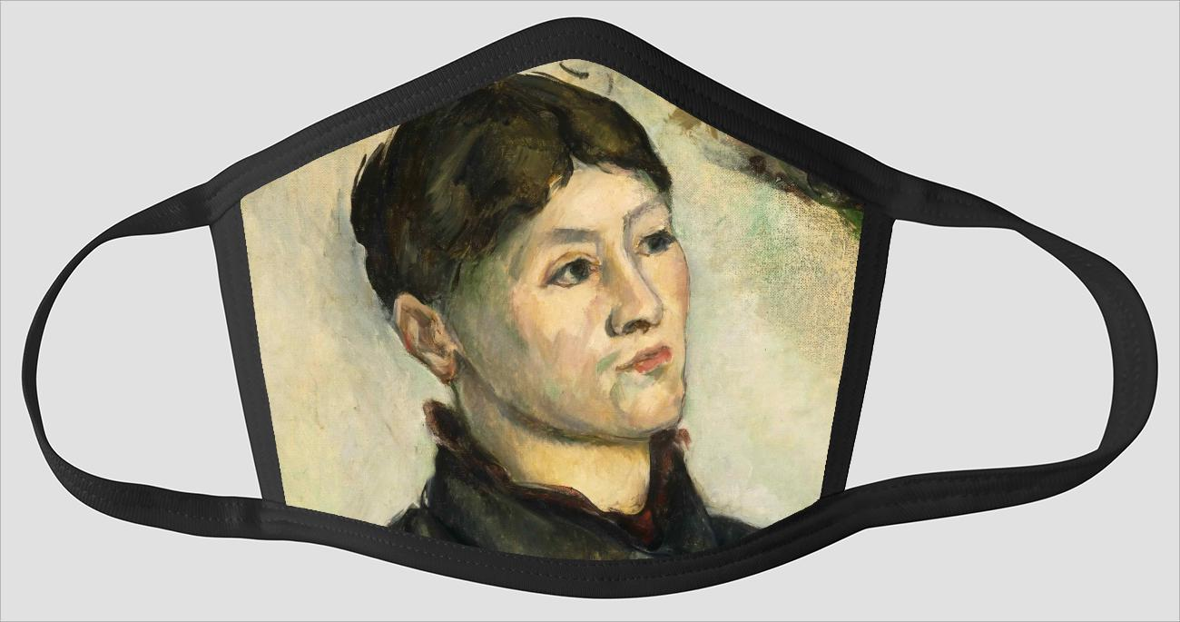 Paul Cezanne    French    1839 1906    Portrait of Madame Cezanne - Face Mask