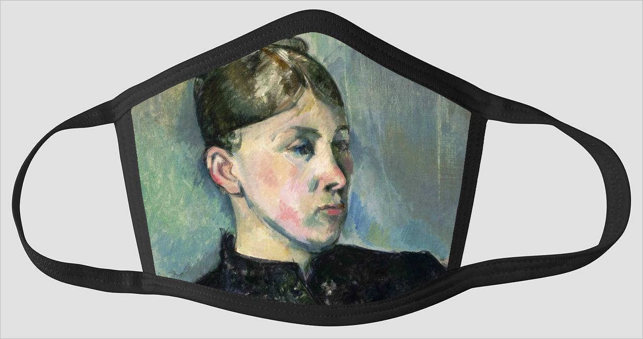 Paul Cezanne    French    1839 1906    Portrait of Madame Cezanne v2 - Face Mask