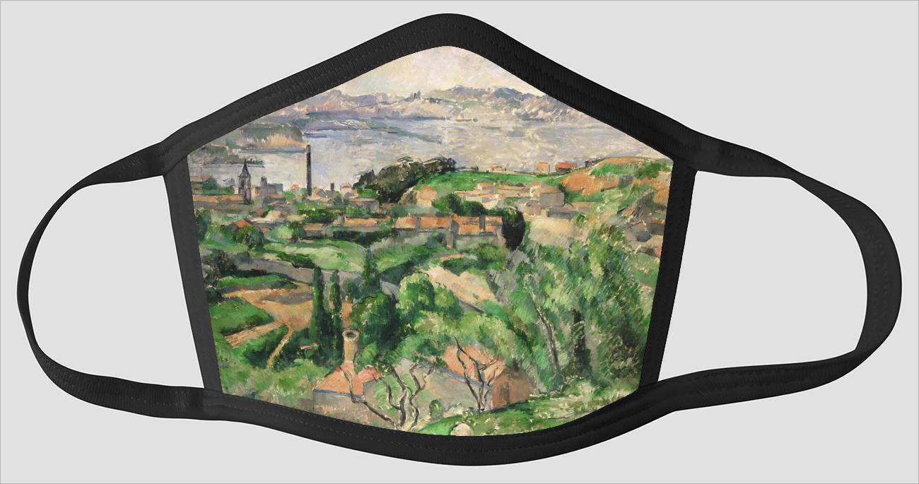 Paul Cezanne    French    1839 1906    View of the Bay of Marseille with the Village of Saint Henri - Face Mask