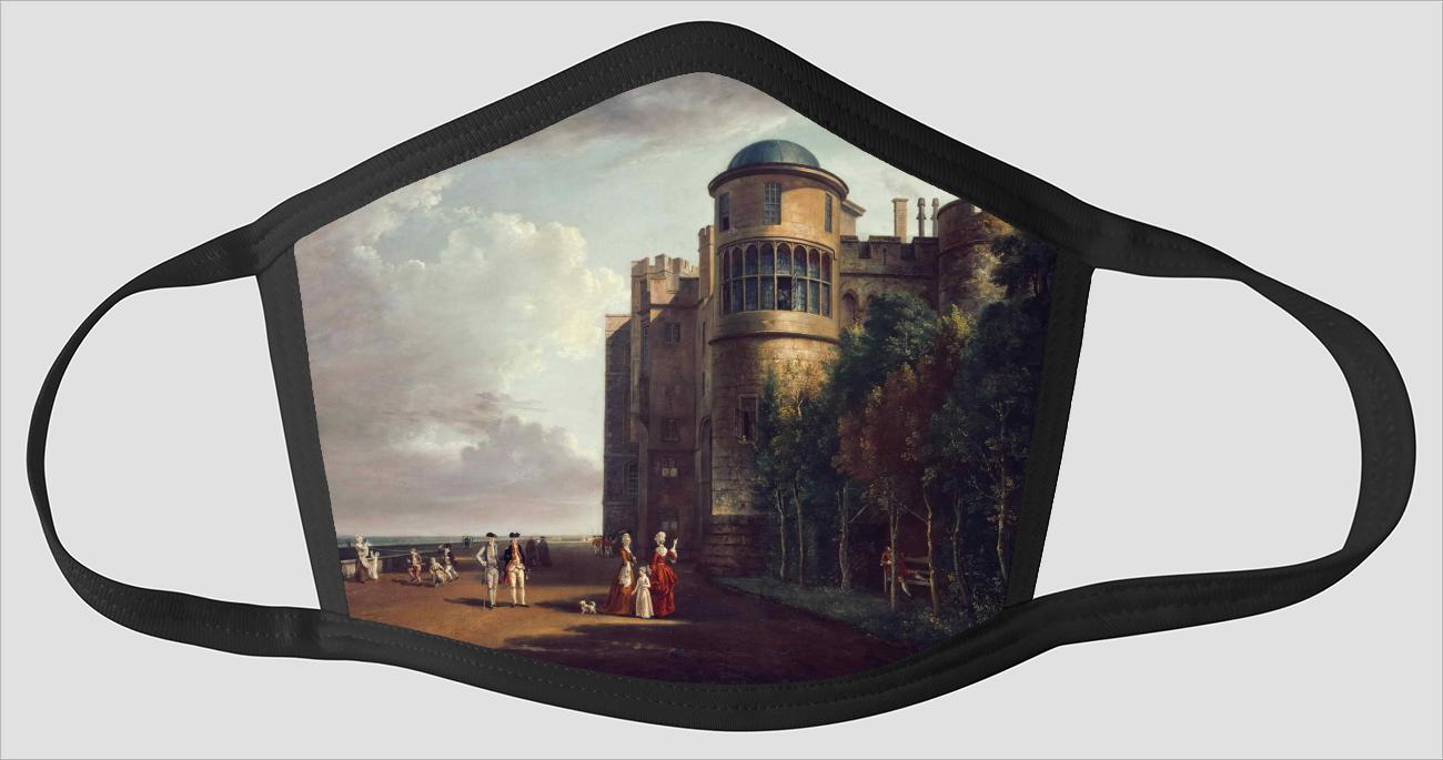 Paul Sandby    English    1730 1809    The North Terrace at Windsor Castle    Looking East - Face Mask