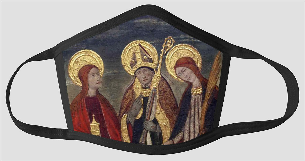 Pere Espalargues    Saints Mary Magdalene    Ermengold    and Catherine of Alexandria - Face Mask
