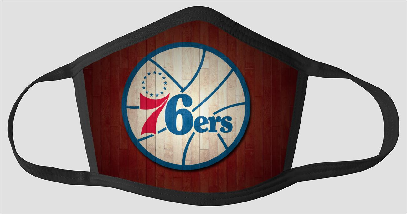 Philadelphia 76ers The Run v4 - Face Mask