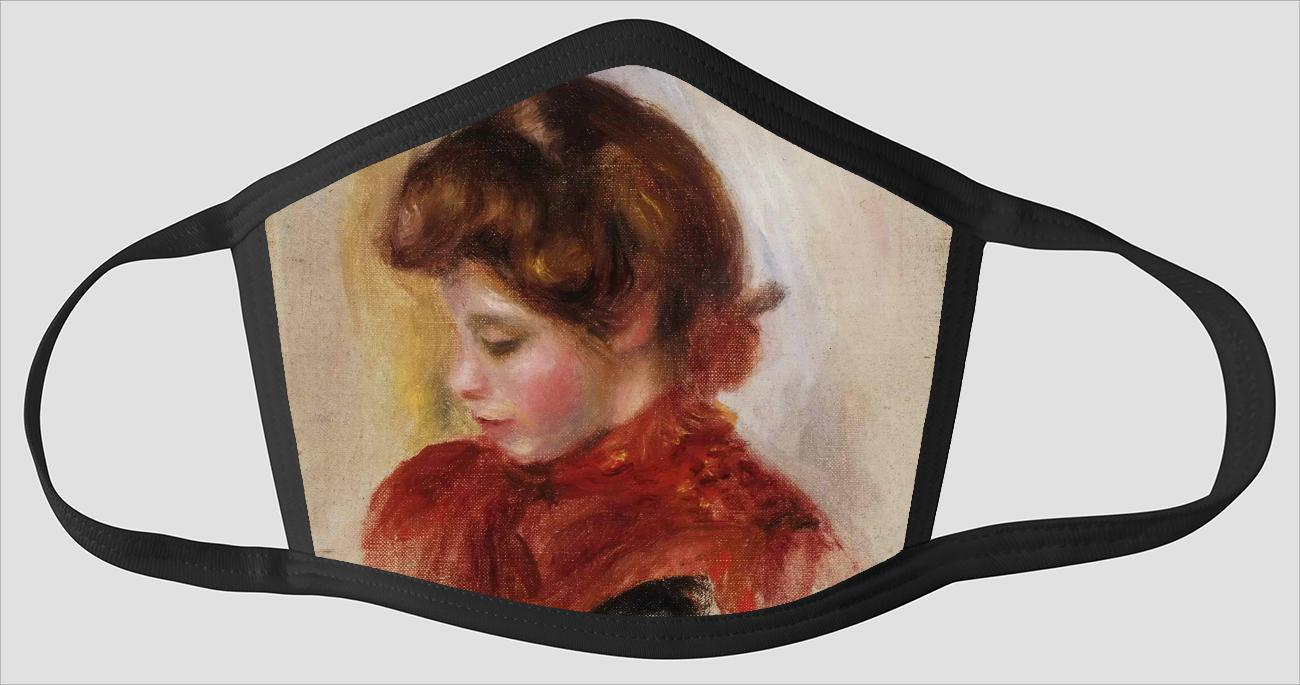 Pierre Auguste Renoir    French    1841 1919    Girl in a Red Scarf - Face Mask