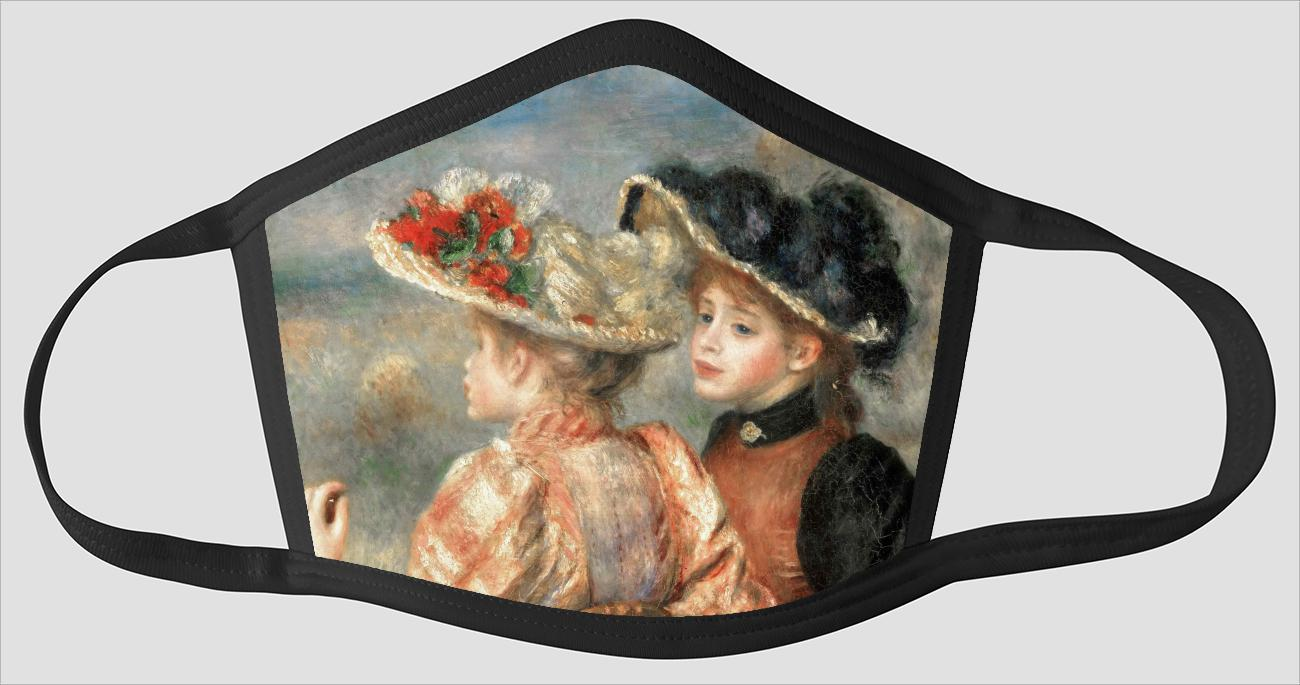 Pierre Auguste Renoir    French    1841 1919    Two Girls - Face Mask