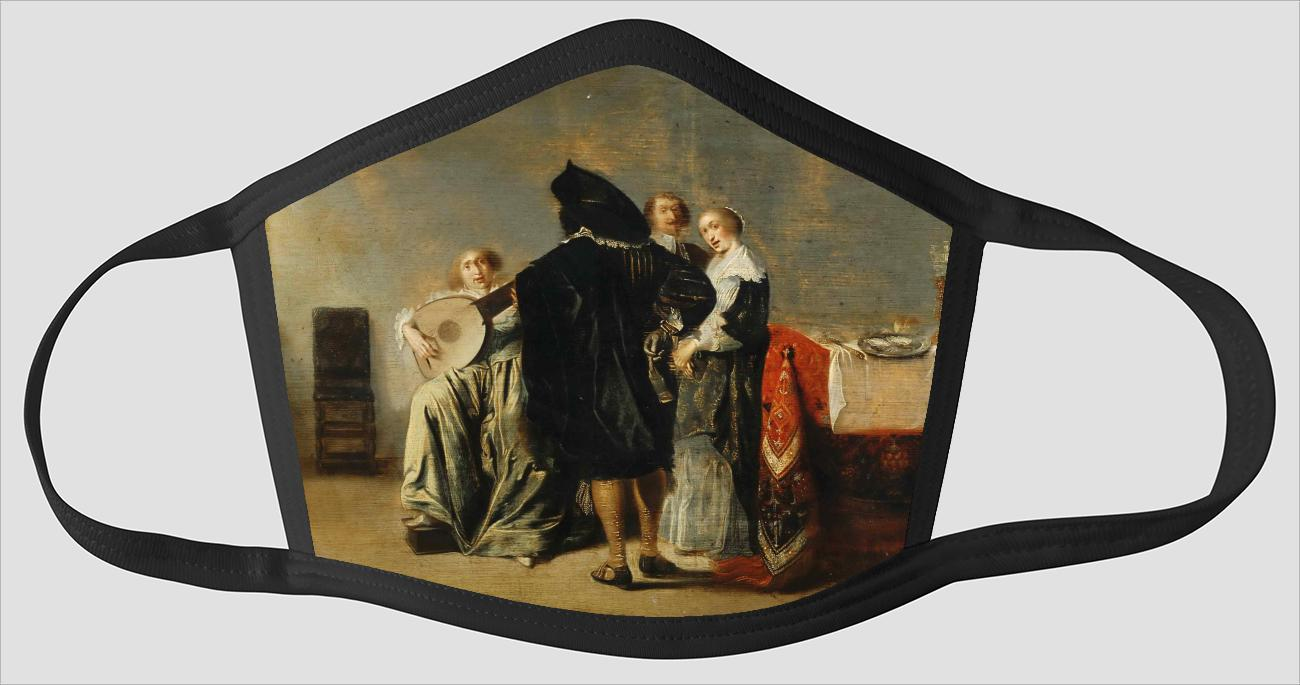 Pieter Codde    Dutch (active Amsterdam)    1599 1678    The Lute Player - Face Mask