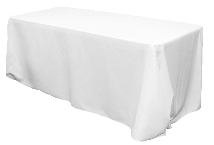 Rectangular Polyester Tablecloths - White