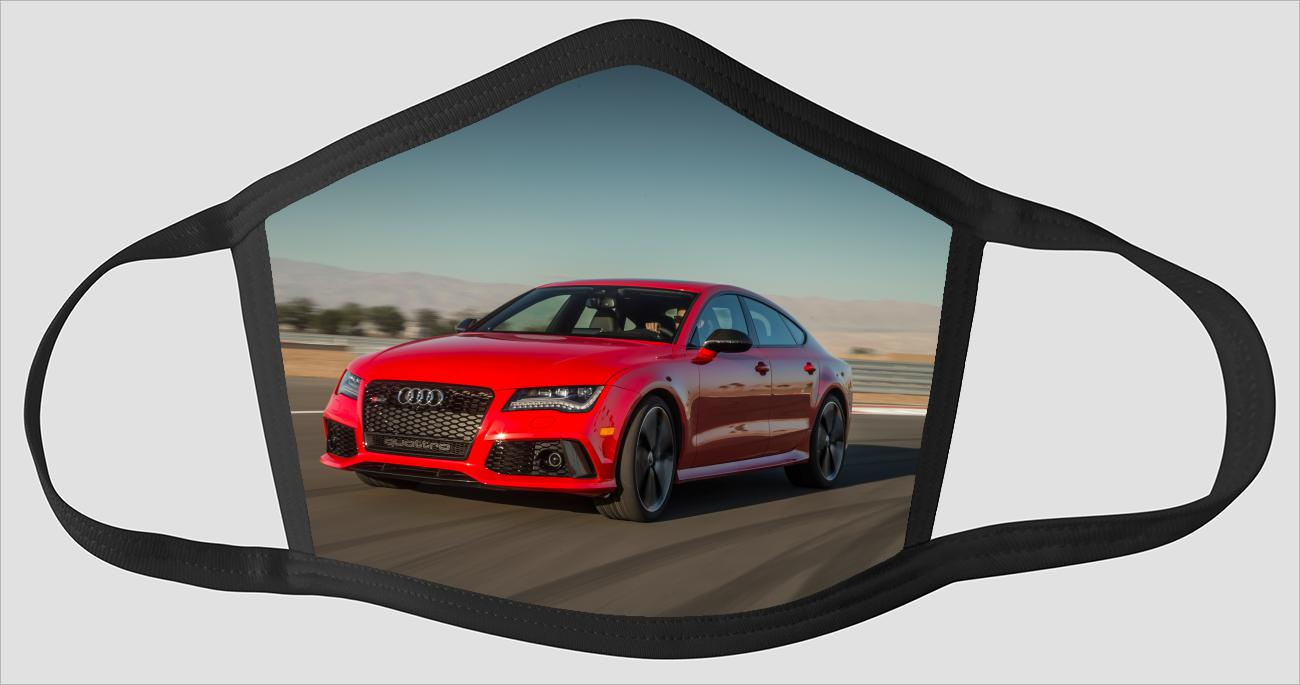 Red Audi RS7 v2586 - Face Mask