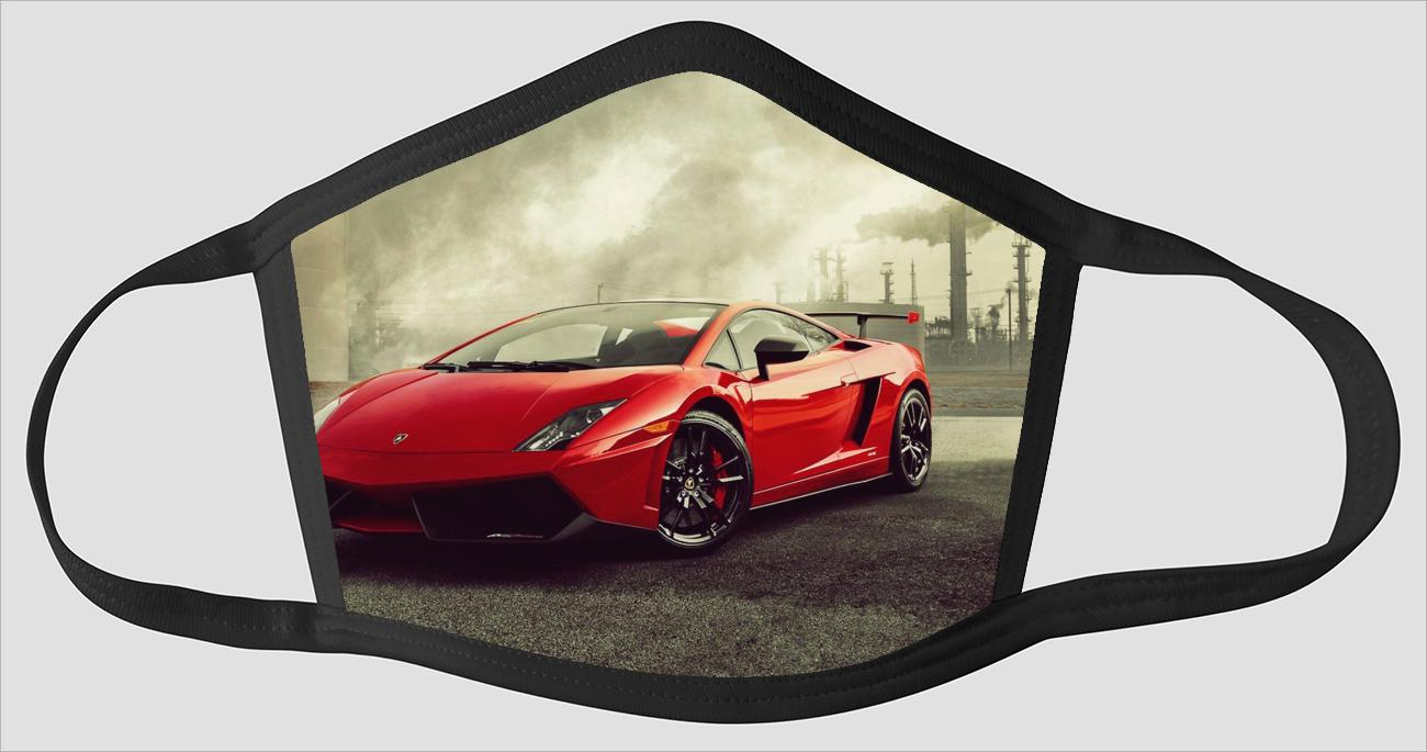 Red Lamborghini Gallardo v2597 - Face Mask