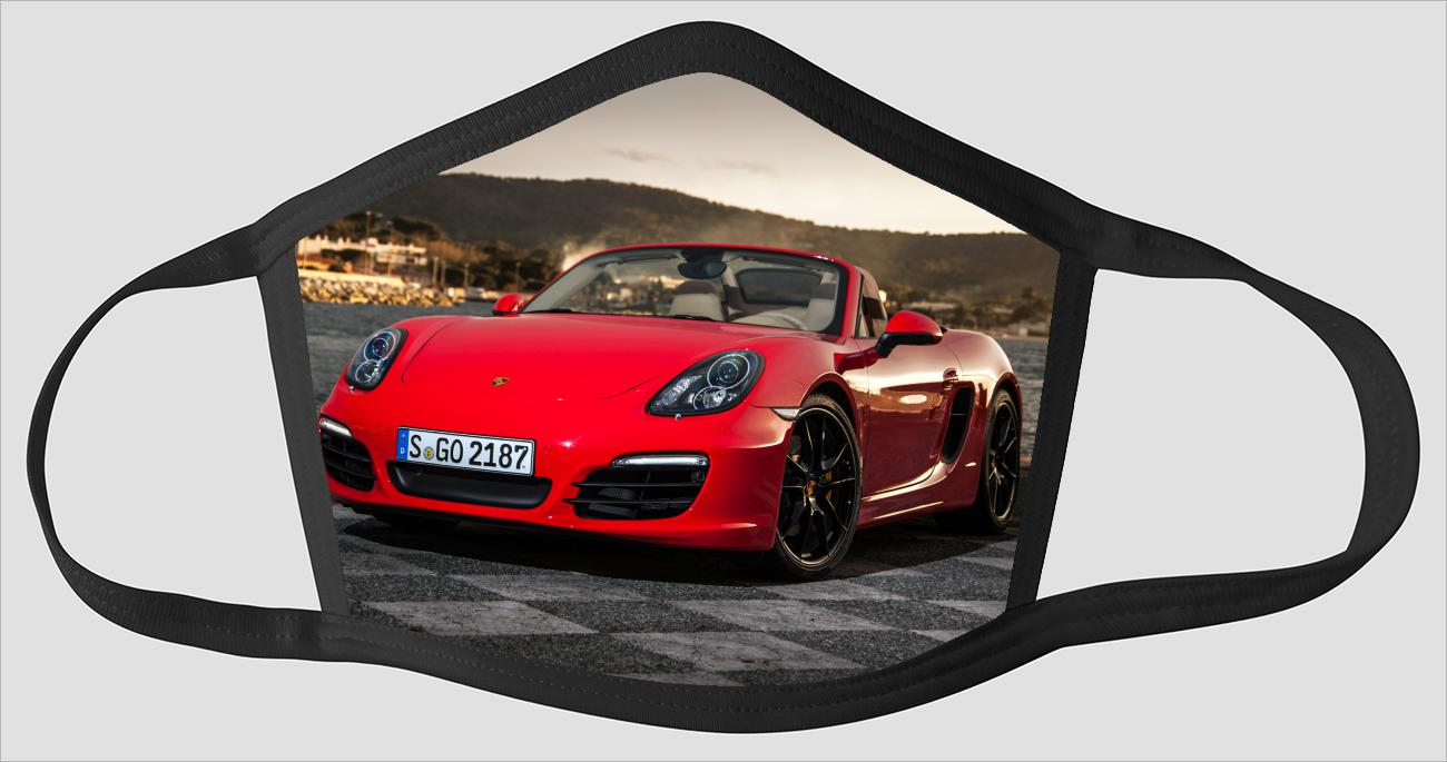Red Porsche Boxster sv2598 - Face Mask