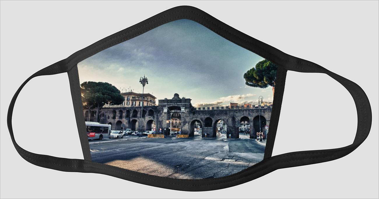 Rome Italy Visions v088 - Face Mask