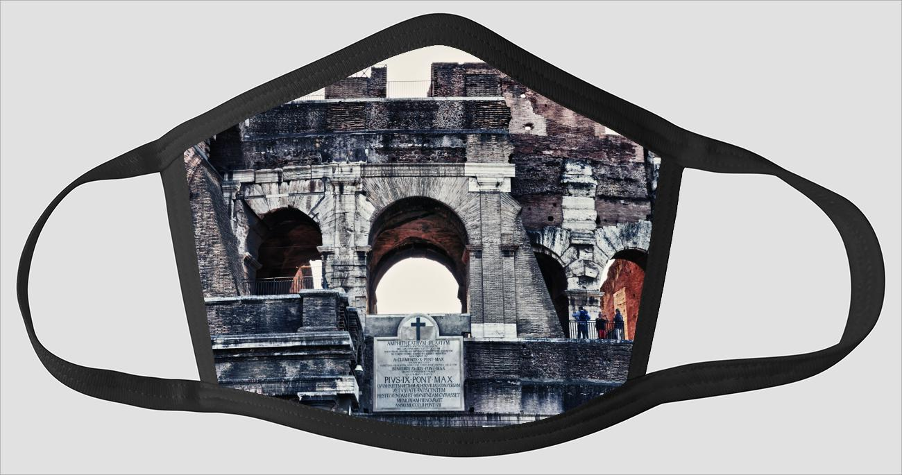 Rome Italy Visions v104 - Face Mask