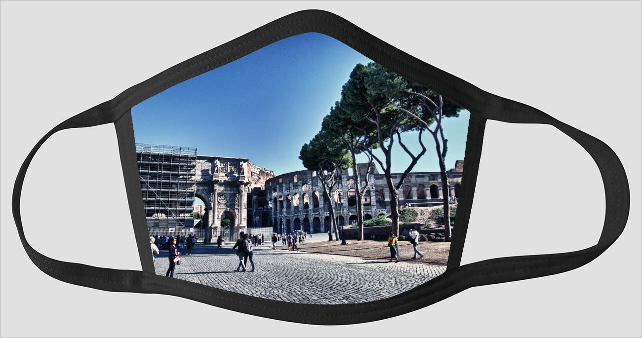 Rome Italy Visions v121 - Face Mask