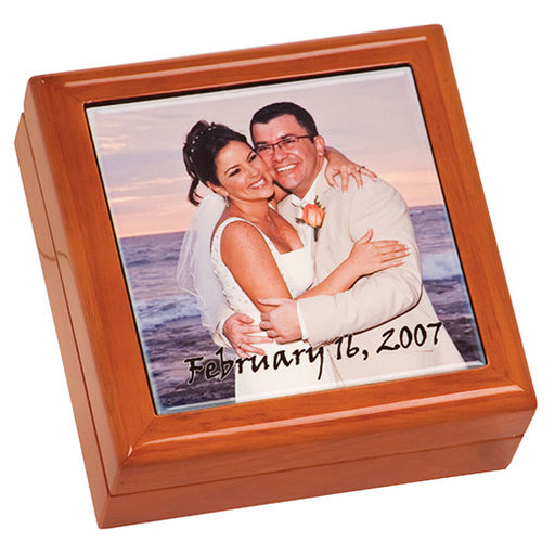 "5 1/2""x 5 1/2""x 2 1/4"" Brown Gift Box w/4 1/4""x 4 1/4"" Ceramic Tile"