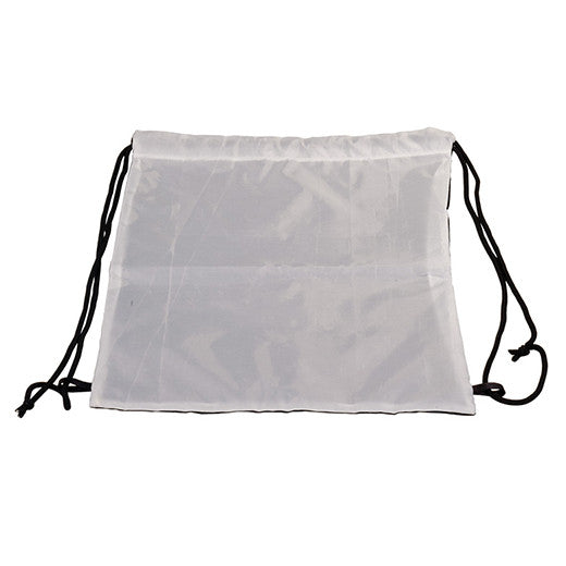 "12"" x 15 3/4"" White/BlackBack Sack"